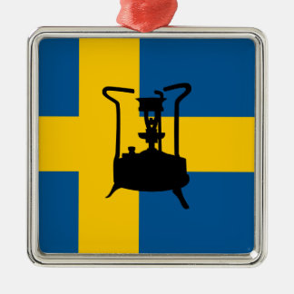 Estufa de cobre amarillo sueca de la presión adorno cuadrado plateado