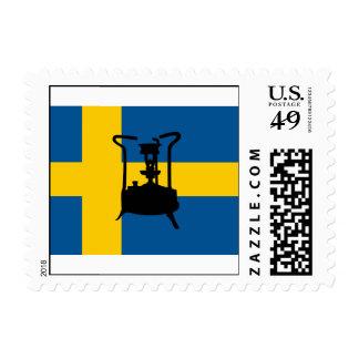Estufa de la presión de la bandera el de Suecia
