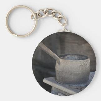 Estufa de los mineros llavero redondo tipo pin