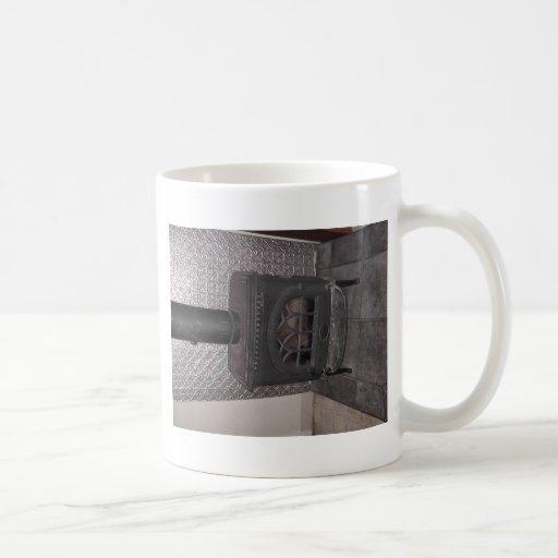 Estufa de madera taza
