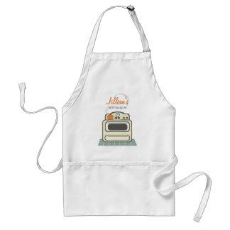 Estufa retra/delantal personalizado cocina moderna