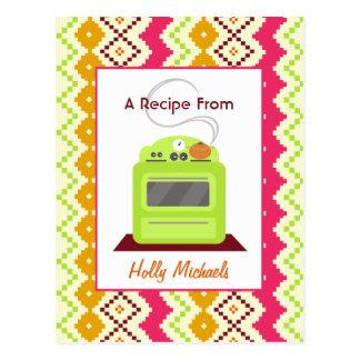 Estufa verde y receta inspirada tribal del modelo postal