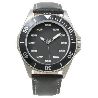 """Estupendo """"AHORA"""" refresque (fondo negro) #3 Relojes"""
