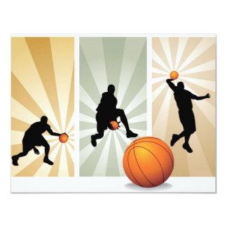 """estupendo-baloncesto invitación 4.25"""" x 5.5"""""""