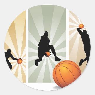 estupendo-baloncesto pegatinas redondas