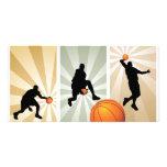 estupendo-baloncesto tarjetas personales con fotos