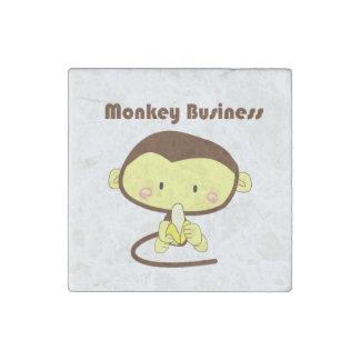 Estupideces Brown y dibujo animado amarillo del ch Imán De Piedra