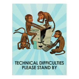Estupideces - dificultades técnicas tarjetas postales