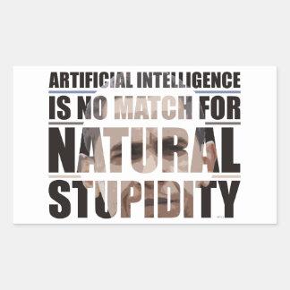 Estupidez natural rectangular pegatinas