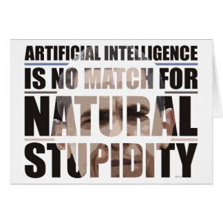 Estupidez natural tarjeta de felicitación