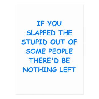 estúpido tarjetas postales