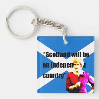 Esturión: Escocia será un país independiente… Llavero Cuadrado Acrílico A Doble Cara
