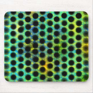 esverdeado of lined up bagunçadas black small mouse pad