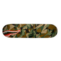 Esvoir Camo Mark Shark Skateboard Deck