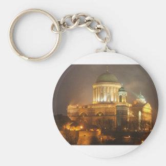 Esztergom bazilika lights basic round button keychain