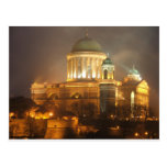 Esztergom bazilika lights postcard