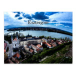Esztergom landscape photograph postcard