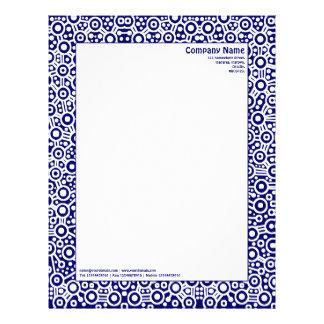 ET Circuity - Dark Blue (000066) Letterhead Template