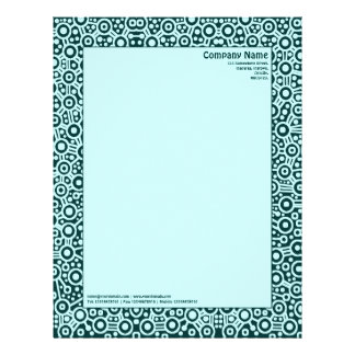 ET Circuity - Dark Green with Pale Blue Personalized Letterhead