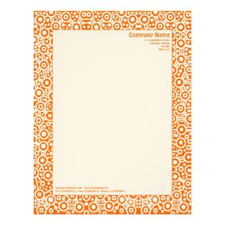 "ET Circuity - Orange (on ""Felt"" Paper) Personalized Letterhead"