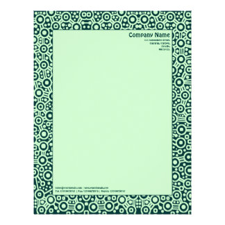 ET Circuity - Shades of Green Letterhead Template