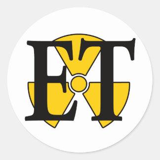 ET- Electronics Technician Round Sticker