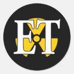 ET Navy Nuke Round Stickers