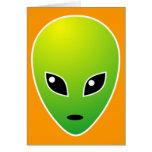 ET - on Orange Greeting Card