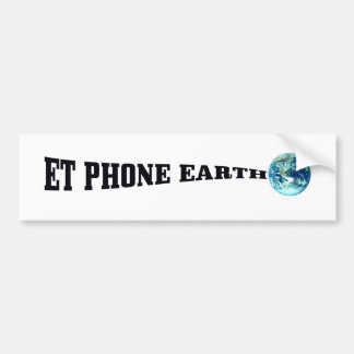 ET PHONE EARTH png Bumper Stickers