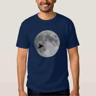 """ET"" Sled and Moon Navy Blue Sledders.com Tee Shirt"