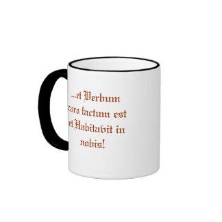 ... et Verbum caro factum est, Jesus in Manger Ringer Coffee Mug