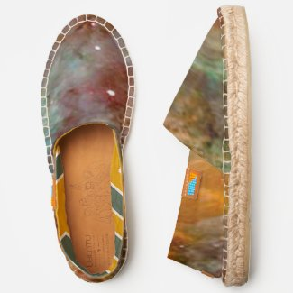 Eta Carinae Nebula in Brown and Copper Color, ZGOA Espadrilles