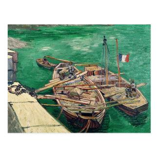 Etapa de aterrizaje con los barcos, 1888 postales