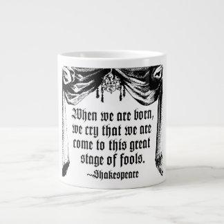 Etapa de la taza de la cita de los tontos, taza grande