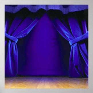 Etapa vacía con las cortinas impresiones
