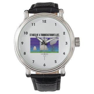 Etapas de la meteorología de la vida de una relojes de mano