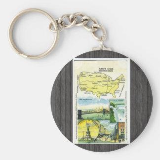 Etats Unis Wereenicde Staten Canada, Vintage Keychains