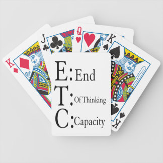 ETC BICYCLE PLAYING CARDS