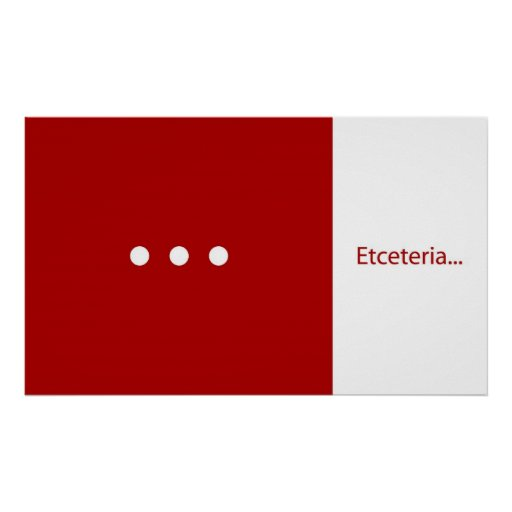 Etceteria Poster