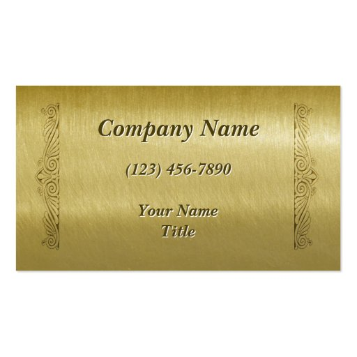 Etched Brass Business Card