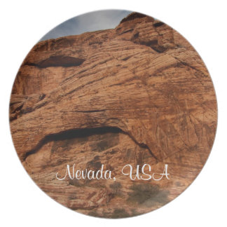 Etched by Time; Nevada Souvenir Melamine Plate