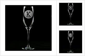 Etched Champagne Flute
