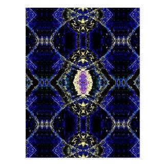 Etched Cobalt Postcard