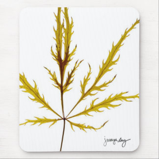 """Etched Leaf"" by J. Maya Luz Mouse Pad"