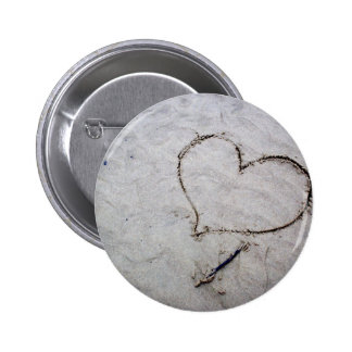 Etched Love Pinback Button