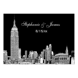 Etched NYC Skyline DIY BG Color Place Cards #2 Large Business Cards (Pack Of 100)