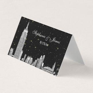 Etched NYC Starry Skyline DIY BG Escort Cards #3