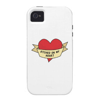 Etched On My Heart iPhone 4/4S Case
