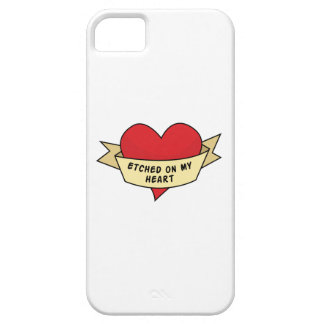 Etched On My Heart iPhone 5 Case