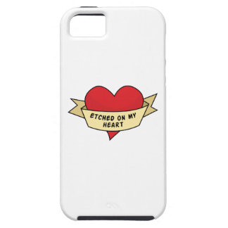 Etched On My Heart iPhone 5 Covers